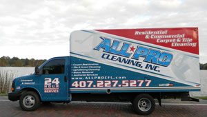 carpet cleaning van side